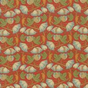 Moda - Voysey by The V&A - 6678 - Reproduction, Perching Birds on Red - 7325 15 - Cotton Fabric